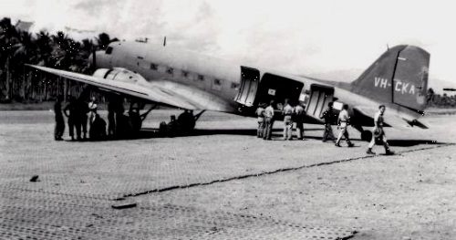 A Douglas C-47 at Milne Bay: similar to the one lost